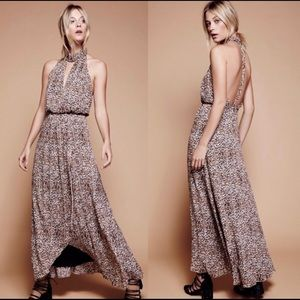 Free People Leopard Print Maxi Dress